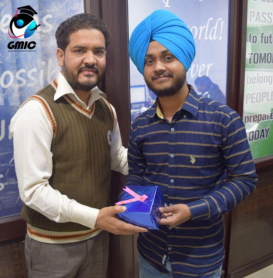 Prabhjit Singh with GMIC Staff Member